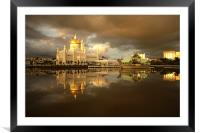 Royal Mosque in Brunei, Framed Mounted Print