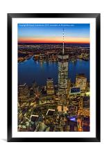 World Trade Center WTC From High Above, Framed Mounted Print