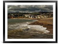 Stormy Skies over Axmouth, Framed Mounted Print