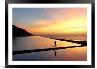 Arty sunset reflection!, Framed Mounted Print