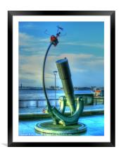 Heaven and Earth Telescope and Orrery, Framed Mounted Print