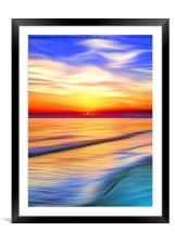 In the Bay, Framed Mounted Print