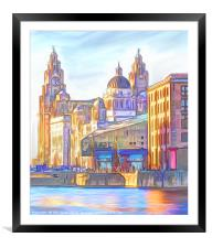 World famous Three Graces (Digital painting), Framed Mounted Print