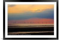 At the Wind Farm, Framed Mounted Print