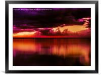 Another Place at Sunset, Framed Mounted Print
