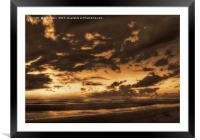 Another place at sunset (Digital Art), Framed Mounted Print