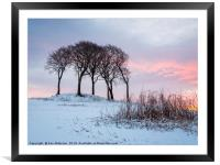 The Mellowing Freeze, Framed Mounted Print