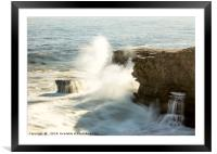 The Explosion and The Waterfall, Framed Mounted Print