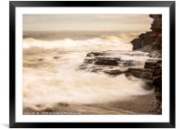 Between a rock and a Hard Place, Framed Mounted Print