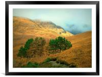 highlands, Framed Mounted Print