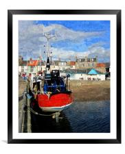 anstruther fife scotland, Framed Mounted Print