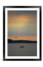 Prepare to Fish, Framed Mounted Print