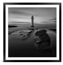 Perch Rock mono moment, Framed Mounted Print