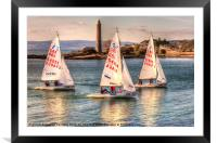 RYA Youth National Championships Largs, Framed Mounted Print