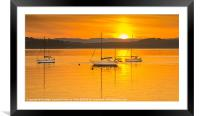 Summer Sunset on the River Clyde, Framed Mounted Print