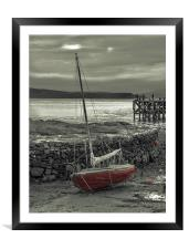 Low Tide at Portencross, Framed Mounted Print