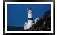 Cloch Lighthouse Gourock, Framed Mounted Print