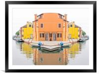 Burano, Framed Mounted Print