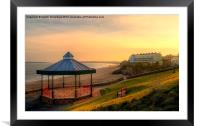 Bandstand and South Beach Tenby, Framed Mounted Print