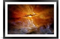 """Fire in the Sky"", Framed Mounted Print"