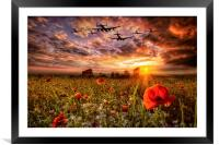 Lest We Forget RAF, Framed Mounted Print