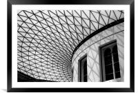 Roof of British Museum, Framed Mounted Print