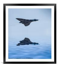 Vulcan Bomber Over The Water, Framed Mounted Print