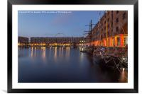 Albert Dock in the early morning, Framed Mounted Print