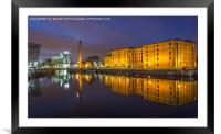 Canning Dock - Liverpool, Framed Mounted Print