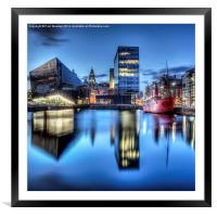 Canning Dock Liverpool - HDR, Framed Mounted Print