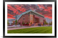 Red Sky Over Anfield, Framed Mounted Print
