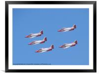 Top Gun in the air, Framed Mounted Print