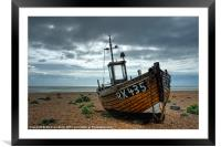 Fishing Boat at Dungeness, Kent, Framed Mounted Print
