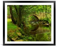 River Bovey at North Bovey,Dartmoor, Framed Mounted Print