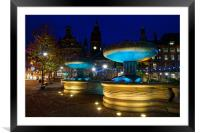 Sheffield Town Hall & Entrance to Peace Gardens, Framed Mounted Print