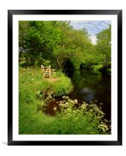 River Teign near Chagford, Framed Mounted Print