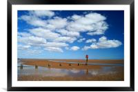 Cleethorpes Beach at Low Tide, Framed Mounted Print