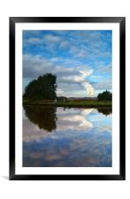 Reflections of Eggborough, Framed Mounted Print