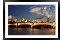 City of London, Framed Mounted Print