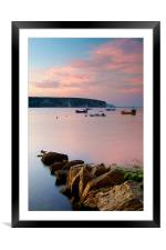 Looking across Swanage Bay, Dorset, Framed Mounted Print