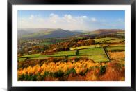 Hathersage Autumn Colours, Framed Mounted Print