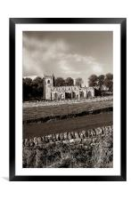 St Nicholas Church,High Bradfield, Framed Mounted Print