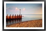 River Axe meets the Sea, Framed Mounted Print