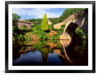 Froggatt Bridge and River Derwent, Framed Mounted Print