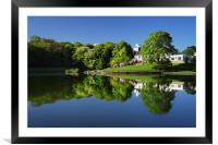 Crookes Valley Park Mirror Image, Framed Mounted Print