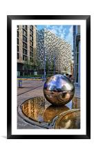 Millennium Square, Sheffield City Centre, Framed Mounted Print