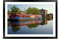 Sheffield Canal Reflections, Framed Mounted Print