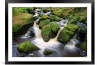 Wyming Brook Falls 3, Framed Mounted Print