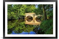 Leadmill Bridge and River Derwent Reflections, Framed Mounted Print