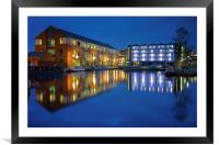 Victoria Quays at Night, Framed Mounted Print